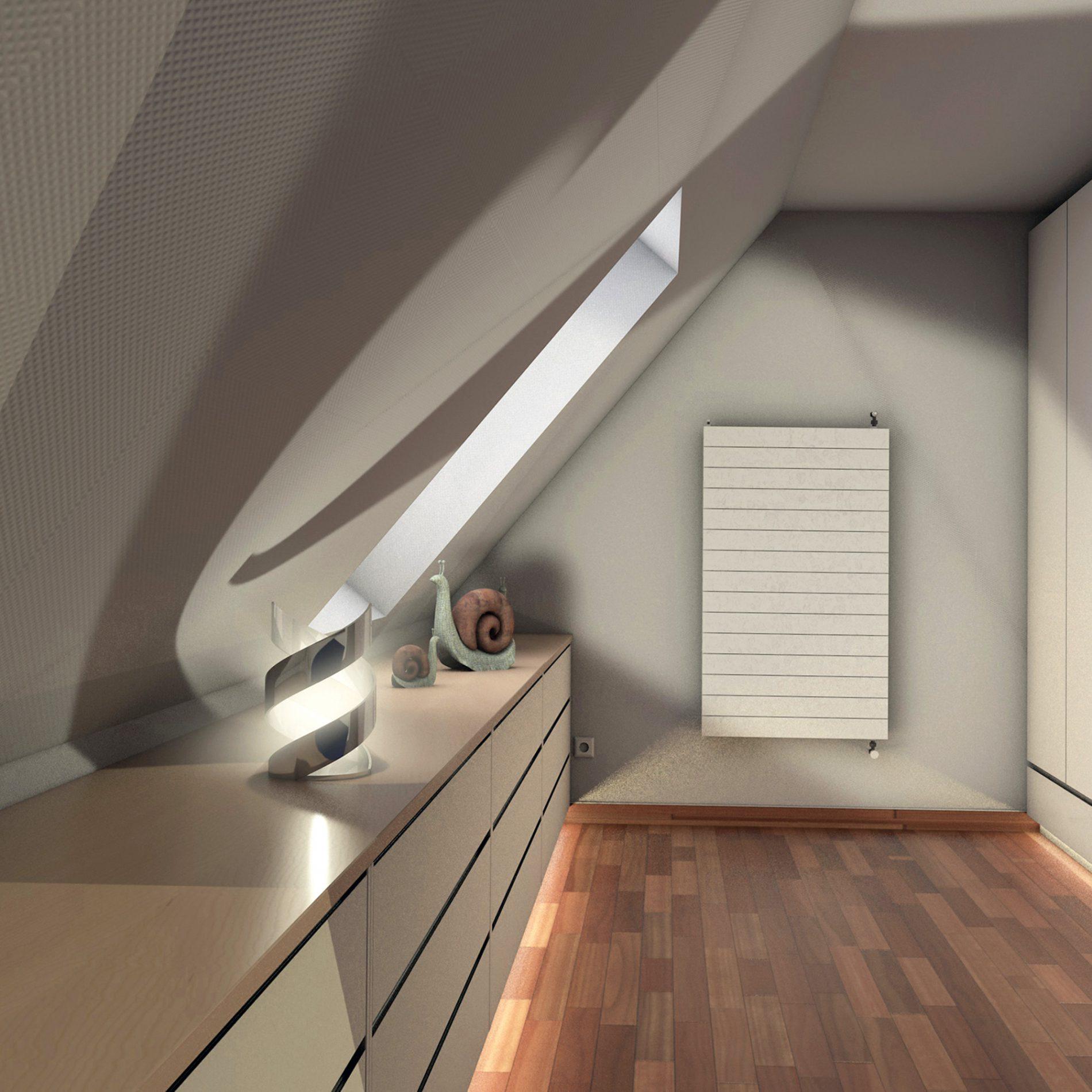 durchgehender Drempelschrank für Dachschrägenbereiche im oberen Stockwerk