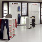 Ladenbau Möbeldesignteile entworfen bei nonmalus GmbH und gebaut in der Tischlerei nm pro GmbH in Nünchritz