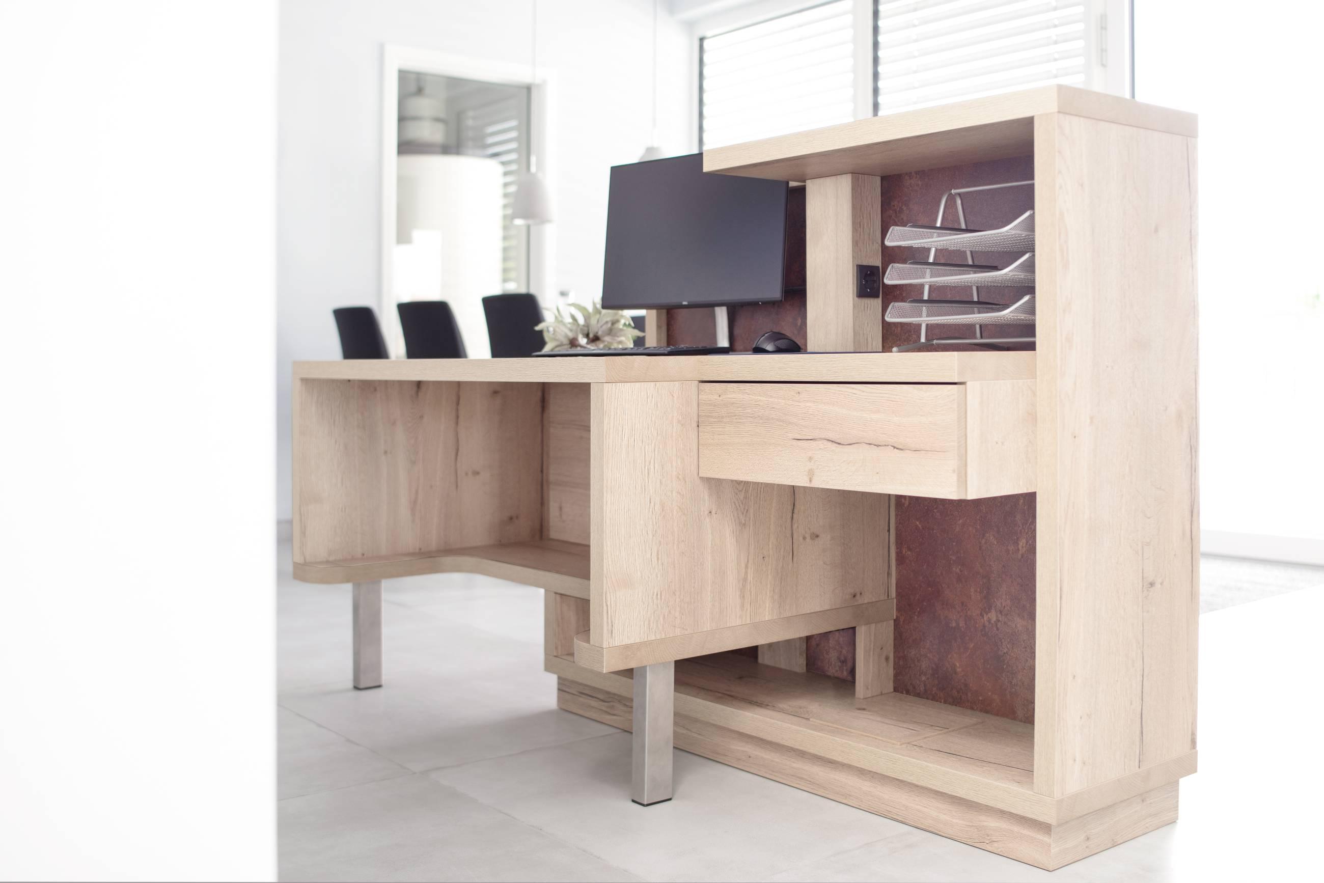 moebel-for-you.de Empfangstresen mit integriertem Schreibtisch