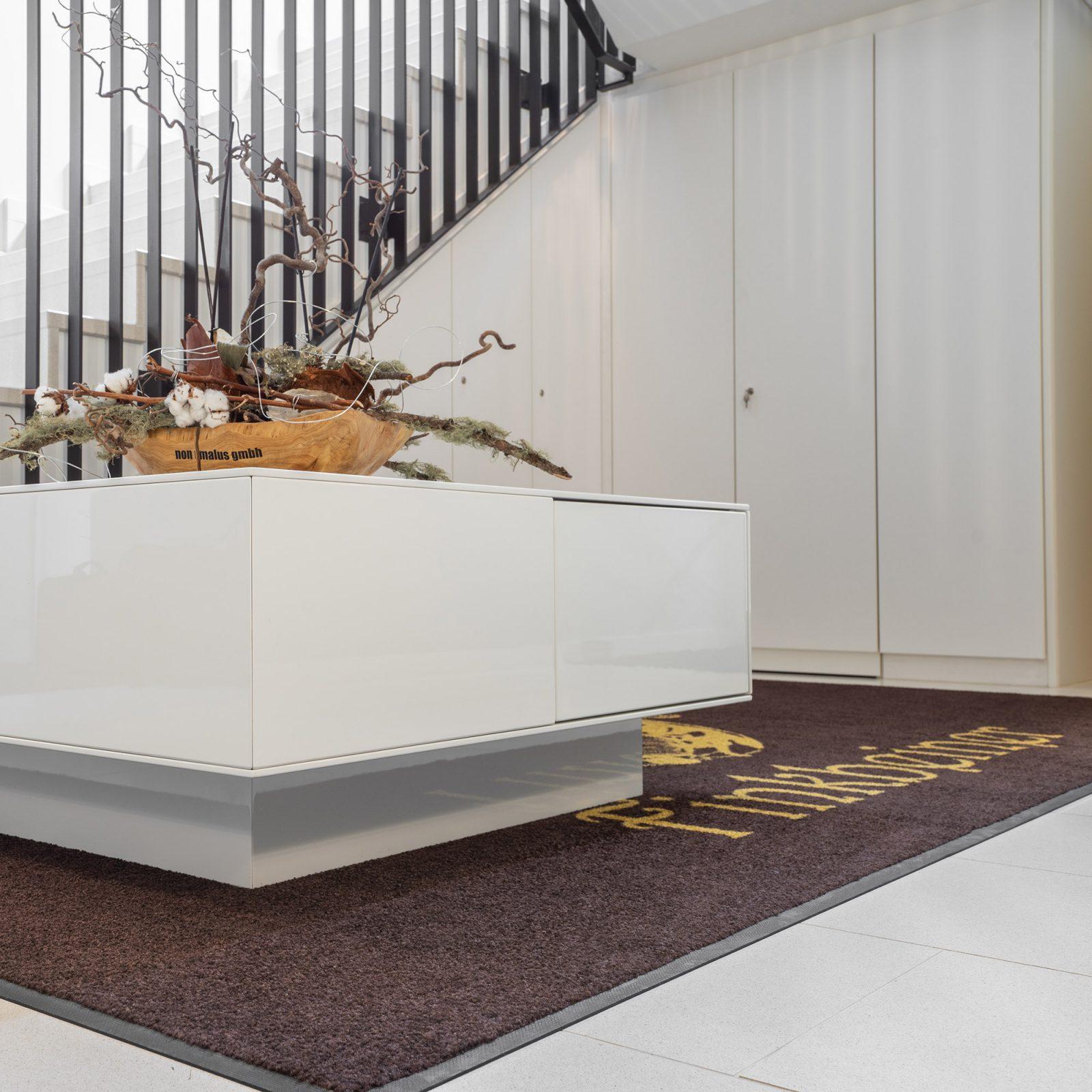 individueller Schrank im Treppenhaus unter dem Treppenaufgang eingepasst