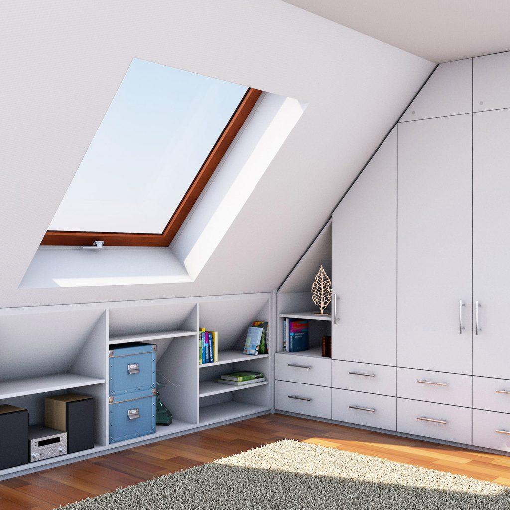 Eckschrank für Dachschrägen und Drempel – moebel-for-you.de